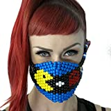 Pacman and Ghost Surgical Kandi Mask by Kandi Gear