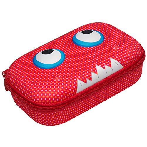 ZIPIT Beast Pencil Case/Pencil Box/Storage Box, Red (Pencil Boxes For School)