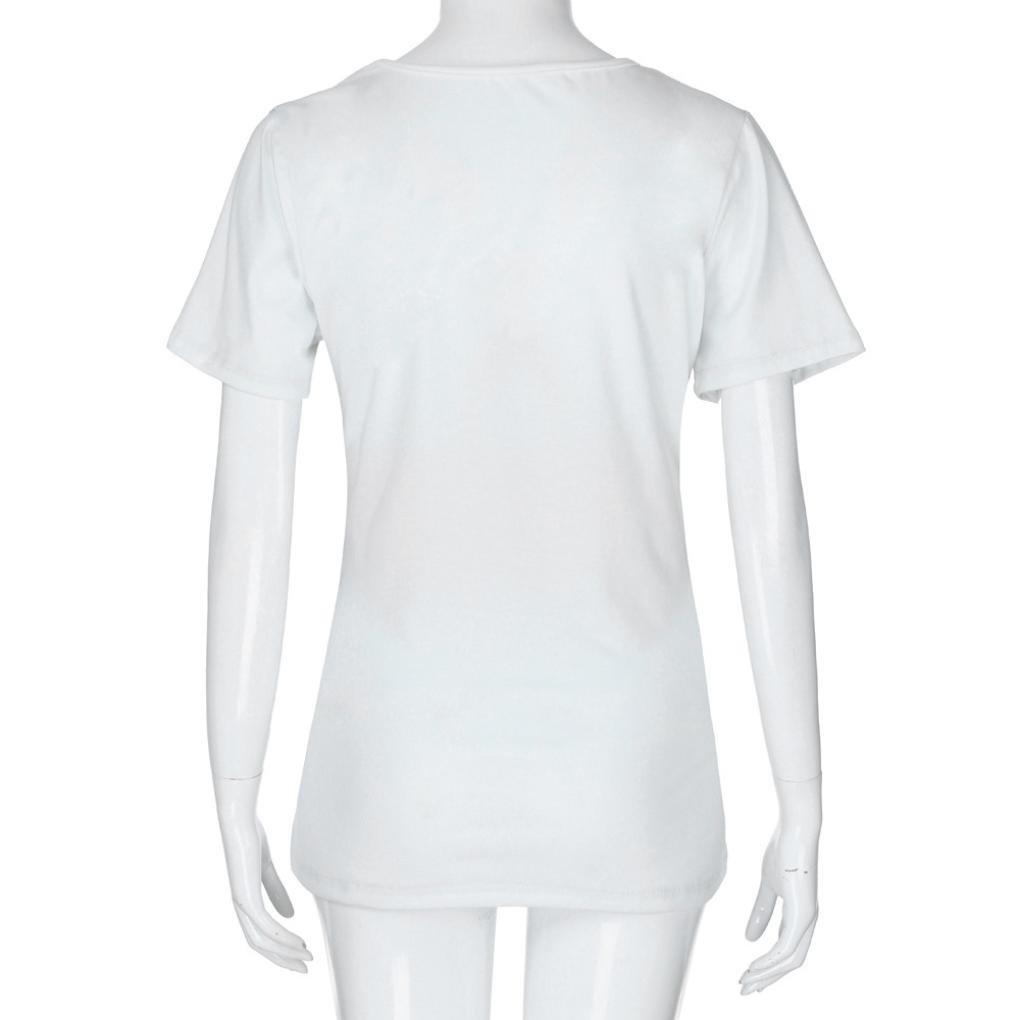 Fheaven Pregnants Tops XL, White Baby Is Coming Print Tops Blouse Short Sleeve For Maternity T-Shirt
