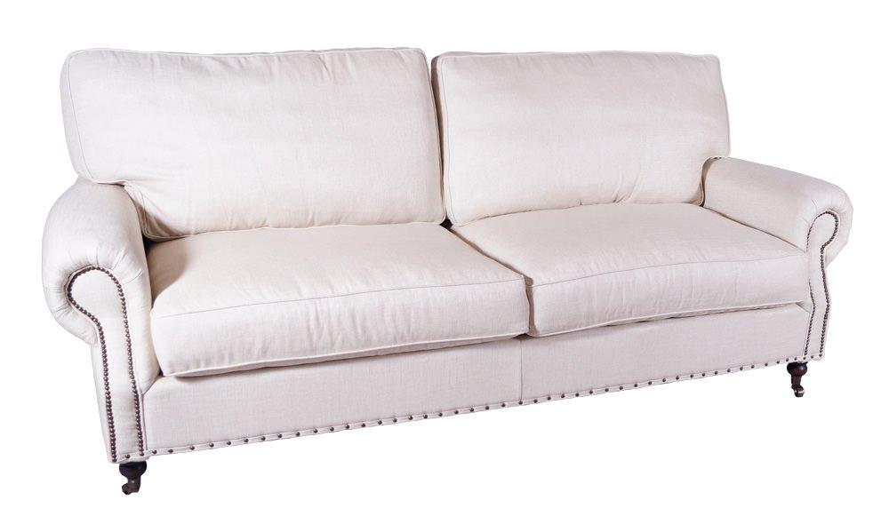 Classic-Sofa Oxford 2-Sitzer Vintage Leinen