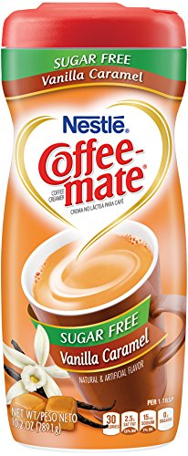 Coffee-mate Coffee Creamer Sugar Free Vanilla Caramel, Pack of 6 (10.2 Ounce) ()