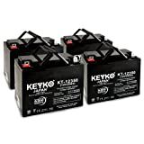 AAA Robo Chair Seguay 3000 12V 35Ah SLA Sealed Lead Acid AGM Rechargeable Replacement Battery Genuine KEYKO (W/ L2 Nut & Bolt Terminal) - 4 Pack