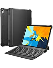 OMOTON Detachable Keyboard Case for New iPad Pro 11, Ultra-thin Bluetooth Keyboard Case with Built-in Stand and Pencil Holder, Lightweight, Black