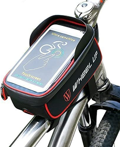 XPhonew Bike Frame Bag Waterproof Cycling Front Top Tube Pouch Pannier Bicycle Frame Phone Mount Crossbar Storage Bag for iPhone XS MAX XS X 8 7 6 6S Plus Smartphones Below 6.0 Bike Phone Holder