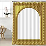 Gzhihine Shower curtain arch picture frame Bathroom Accessories 48 x 78 inches