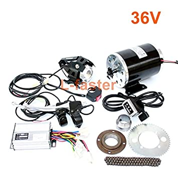 1000W moto electrica motor kit cambiando el gas ATV ATV 4 ruedas electrico DIY Electric scooter electrico Motor vehiculo infantil (36V thumb kit): ...