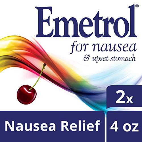 Emetrol Nausea & Upset Stomach Relief Liquid Medication, Cherry - 4 oz Bottle, 2 Count (Best Medication For Nausea)
