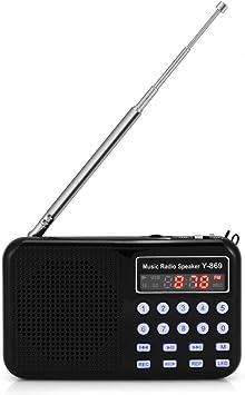 Tonysa - Radio digital portátil FM/MP3 con batería de iones ...