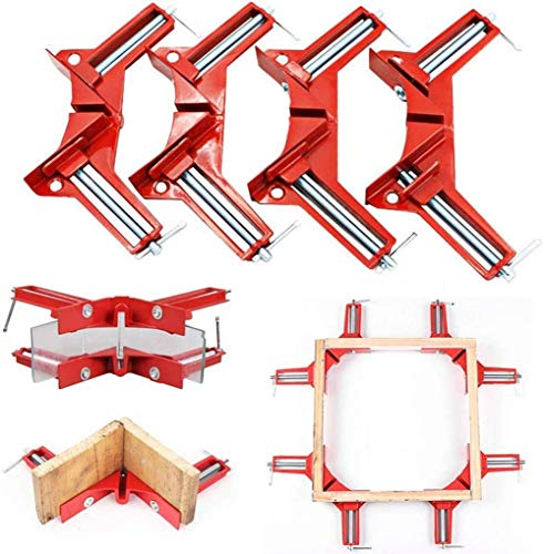 4 PCS Zinc Alloy 90 Degree Right Angle Corner Clamp Picture Photo Frame Corner