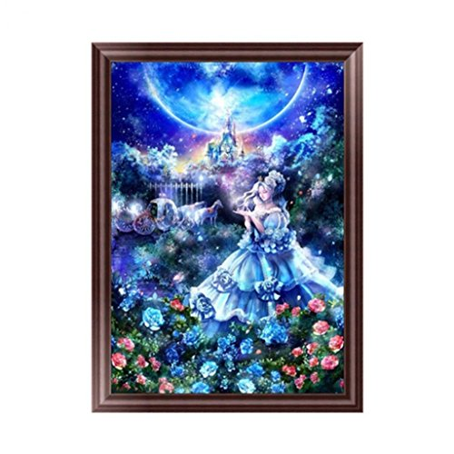 Potato001 Beauty Lady Princess 5D DIY Diamond Embroidery Painting Cross Stitch Wall Decor Without Frame (Page Kit Princess)