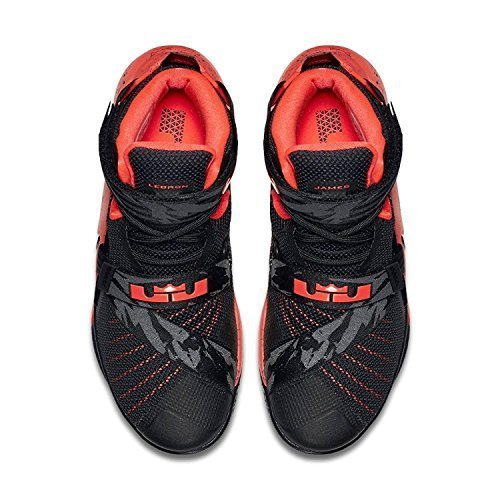 nike lebron soldier IX PRM mens hi top basketball trainers 749490 sneakers shoes (uk 9.5 us 10.5 eu forty four.5, black white bright crimson 016) – DiZiSports Store