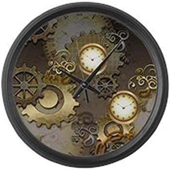 Amazon Com Kikkerland Gear Wall Clock Nickel White Home