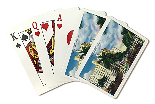 Miami, Florida - Biscayne Boulevard Scene (Playing Card Deck - 52 Card Poker Size with Jokers)]()