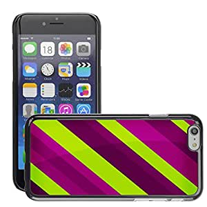 Super Stellar Slim PC Hard Case Cover Skin Armor Shell Protection // M00050030 rayure abstract stripes violet // Apple iPhone 6 4.7