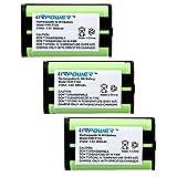 URPOWER® 3 Packs Home Phone Battery For Panasonic HHR-P104, HHR-P104A, KX-FG6550, KX-FPG391, KX-TG2302, KX-TG2303, KX-TG2312, KX-TG2355W, KX-TG2356B, KX-TG2356BP, KX-TG2356S, KX-TG2356W, KX-TG2357B, KX-TG2357PK, KX-TG2382B, KX-TG2386B, KX-TG2388B, KX-TG2396