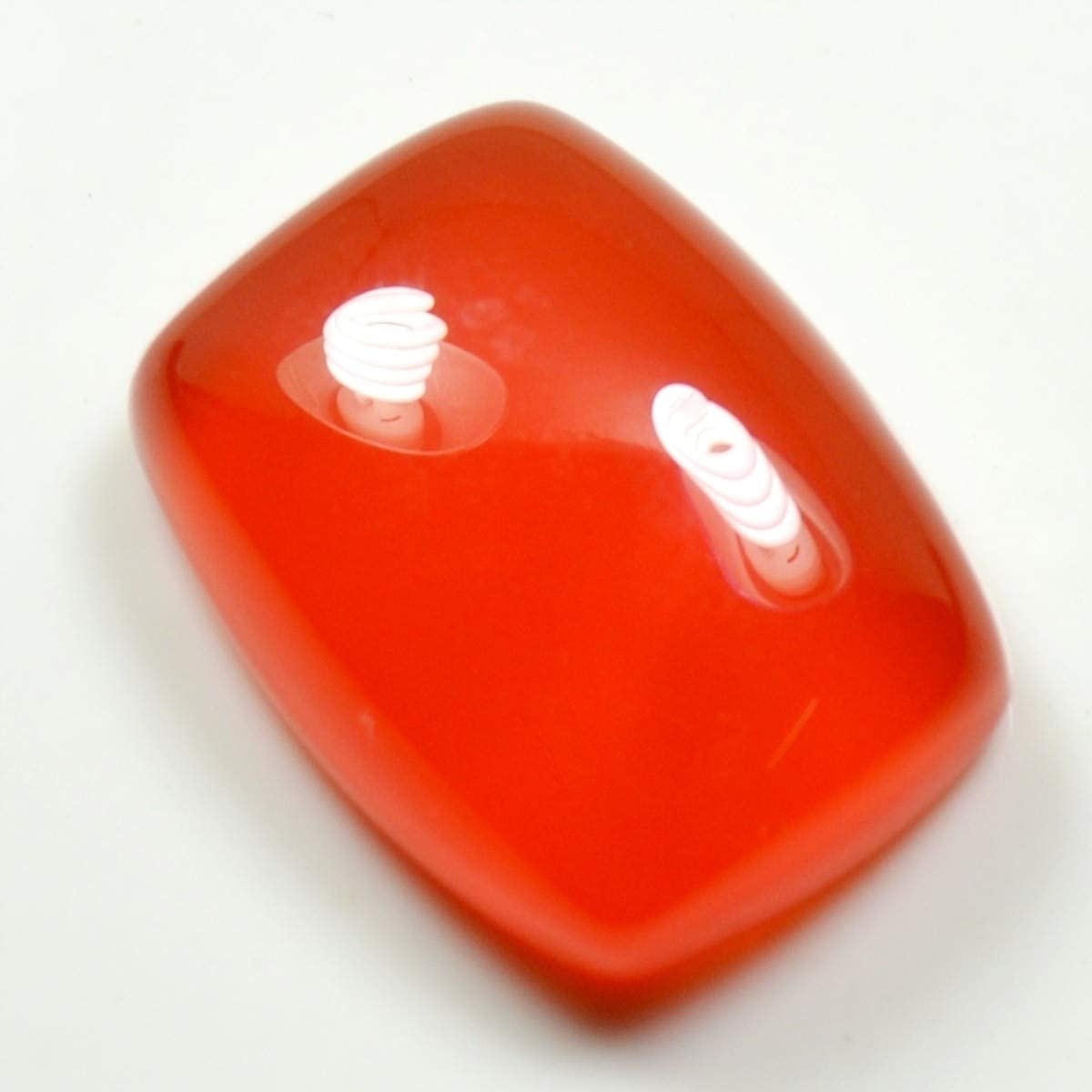 CaratYogi 14X12 MM Naturel Hessonite Calibr/é Pierre Cabochon Rouge L/âche Gemstone pour La Fabrication de Bijoux