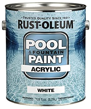 Rust-Oleum 269354 Acrylic Pool and Fountain Paint, 1-Gallon, White, 2-Pack