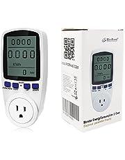 RioRand Plug Power Meter Energy Digital LCD Electricity Usage Monitor Watt Voltage Amps Meter