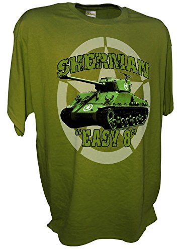 Mens Sherman Tank Fury WW2 Army Military Tee By Achtung T Shirt LLC (Tank M4a3e8)