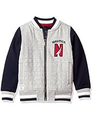 Nautica Little Boys\' Varsity Bomber Sherpa Fleece Jacket, Gr...