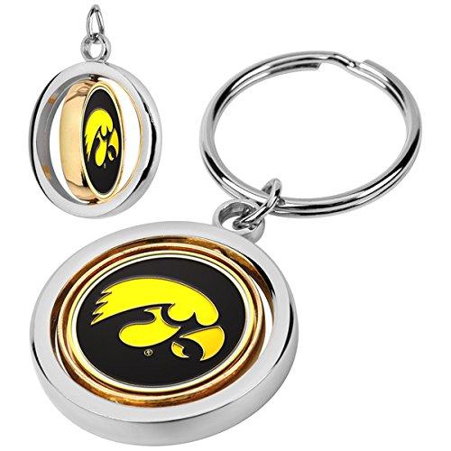 LinksWalker NCAA Iowa Hawkeyes - Spinner Key Chain - Iowa Key Hawkeyes Ring Ncaa