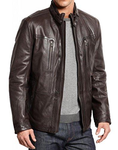 Junction Para Leather Negro Chaqueta Hombre gAxxn4P