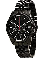 Michael Kors All Black Large Lexington Chronograph Bracelet Watch MK8320