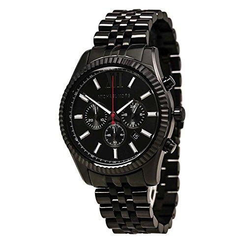 Michael Kors All Black Large Lexington Chronograph Bracelet Watch - Kors All Michael Black