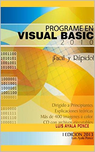 """Download Programe en Visual Basic 2010  """"Fácil y rápido"""" (Spanish Edition) Pdf"""