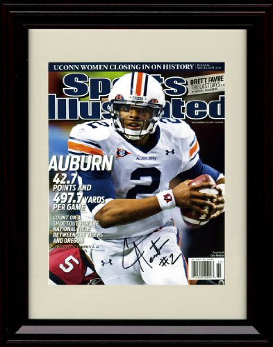 Framed Cam Newton Sports Illustrated Autograph Replica Print - Auburn Champs 12/13/2010