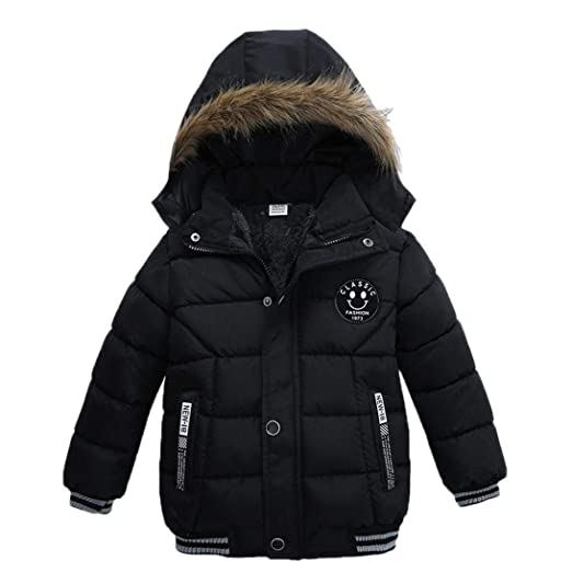 69ed87e64 Goodkids Toddler Boys Down Jacket Winter Jacket Hooded Thickened Warm  Snowsuit Coat Parka Outerwear