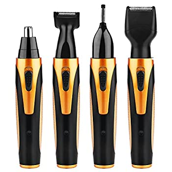 Nose Hair Trimmer 4 in 1 Waterproof USB Rechargeable Nose Trimmer, Sideburn Trimmer, Beard Trimmer, Eyebrow Trimmer Personal Trimmer Kit for Men and Women