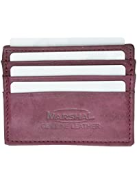 Genuine leather Super Slim 6 Credit Card Slots, Business Card Case Wallet