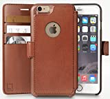 LUPA Slim Faux Leather Magnetic Wallet Case for Apple iPhone 6/6s - Black