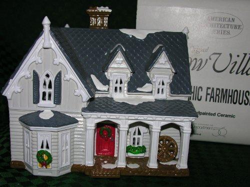 Department 56 Snow Village Gothic Farmhouse 5404-6 (Gothic Snow)