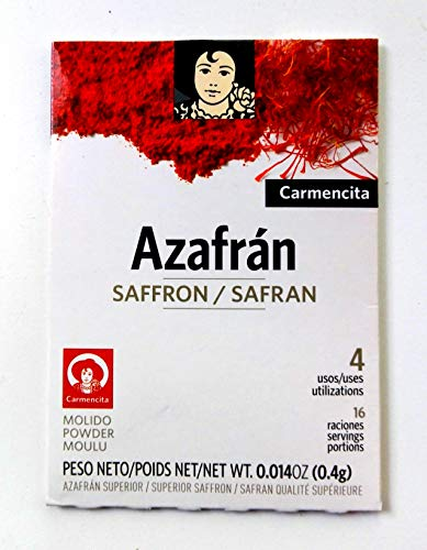 Carmencita Spanish Azafran Ground Saffron 400mg Packet by Carmencita