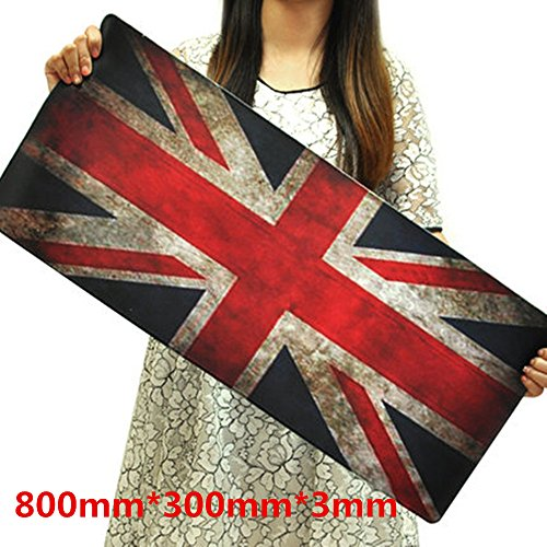 UK Flag, Gaming Mouse Pad Mat Extended United Kingdom Extra Large Size ( 800x300x3mm ) Waterproof Material Extended XXL SizeMouse Mat Pad Non-slippery Rubber Base](Hp Pavilion Amd A6 Charger)
