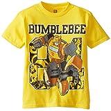 Transformers Little Boys' Short Sleeve T-Shirt Shirt, Yellow, 7