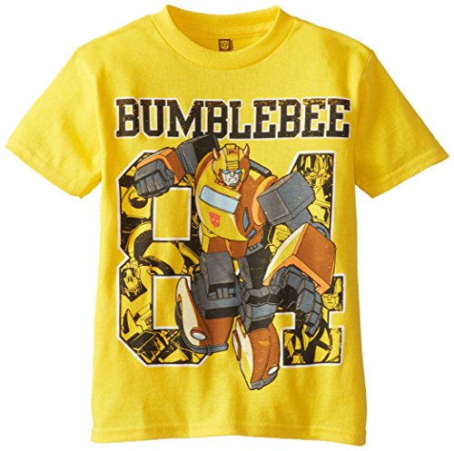 Transformers Little Boys' Short Sleeve T-Shirt Shirt, Yellow, 7 -