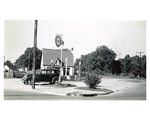 1941 Pure Oil Gas Station Photo Poster Spring Hope NC Gas Globe from AutoLit