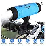 Portable Multifuctional Wireless Bluetooth Speaker 4000mAh Rechargeable Power Bank 3 Mode Emergency Flashlight Handsfree Answering Phone Call TF Card Music Player Mounting Mracket Screw Hole (Blue)
