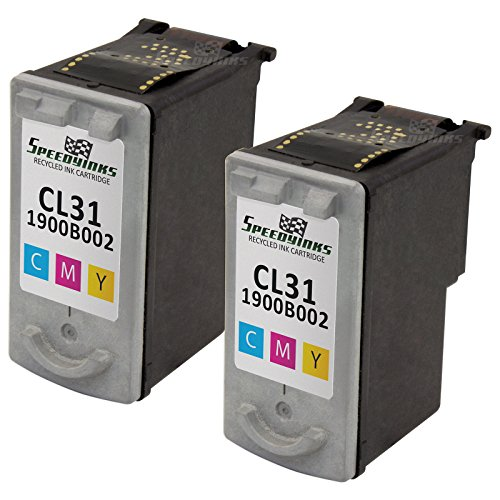 Speedy Inks - 2pk Canon CL31 Color Remanufactured Inkjet Cartridge for use in PIXMA iP1800, PIXMA MP470, PIXMA MP210, PIXMA MX310, PIXMA MX300, PIXMA iP2600, PIXMA MP140, PIXMA MP190