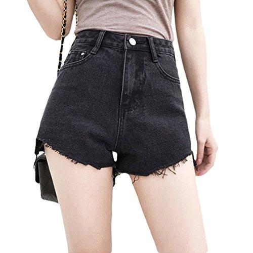 Glands Femme Shorts Unie Noir Taille Xinwcanga Jeans Couleur Hotpants Vintage Denim Hot Haute Mini Cowboy BwfRwdPx