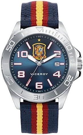 VICEROY S.ESPAÑOLA FUTBOL ACERO CORREA: Amazon.es: Relojes
