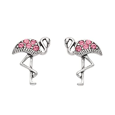 Pink Flamingo Earrings - Sterling Silver xmqAjEbC