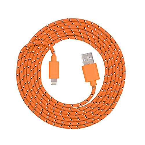 Lightning Braided Charger iPhone Orange