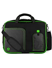 Vangoddy Pindar Notebook Carrying Case Shoulder Bag for Laptop, Green, Large (15-Inch-16-Inch)