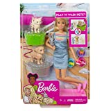Barbie Play 'n Wash Pets Playset with Blonde