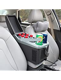 SL&BX Car refrigerator,Mini fridge multifunctional car dual outdoor 10l mini cooling mini compact refrigerator portable fridge-A 44.2x22.6x27.5cm(17x9x11inch)