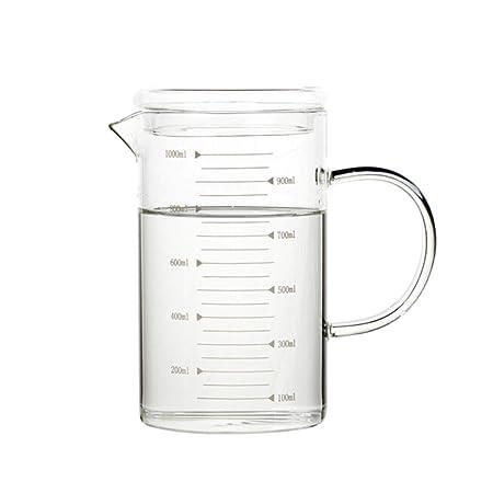 HAOYUSHANGMAO Vaso de vidrio resistente al calor Vaso, con ...